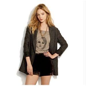 ALEXA CHUNG for MADEWELL Brown Velvet Shorts 2